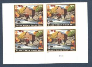 4927 US Priority Mail Glade Creek Grist Mill Plate Block Mint/nh FREE SHIPPING