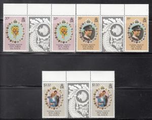 Pitcairn Islands, Sc 206-208, MNH, Royal Wedding, Gutter Pair