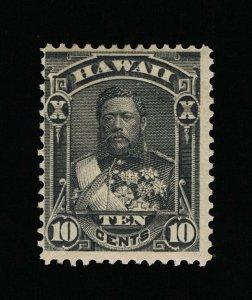 GENUINE HAWAII SCOTT #40 F-VF MINT OG H 1882 BLACK KING DAVID KALAKAUA  #15826