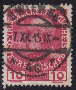 Austria - 1908 - Scott #115 - used - WIEN 64 pmk