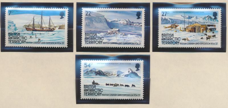 British Antarctic Territory (B.A.T.) Stamps Scott #121 To 124, Mint Never Hin...