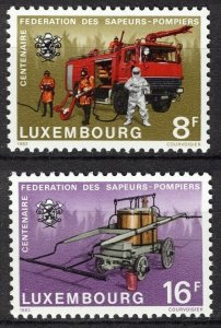 Luxembourg MNH 687-8 Centenary Of Fire Pumpers 1983