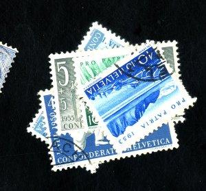 SWITZERLAND #B177 B195 B223-6 USED F-VF Cat $34