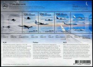 HERRICKSTAMP NEW ISSUES NETHERLANDS Sc.# 1589 Aviation Sheetlet