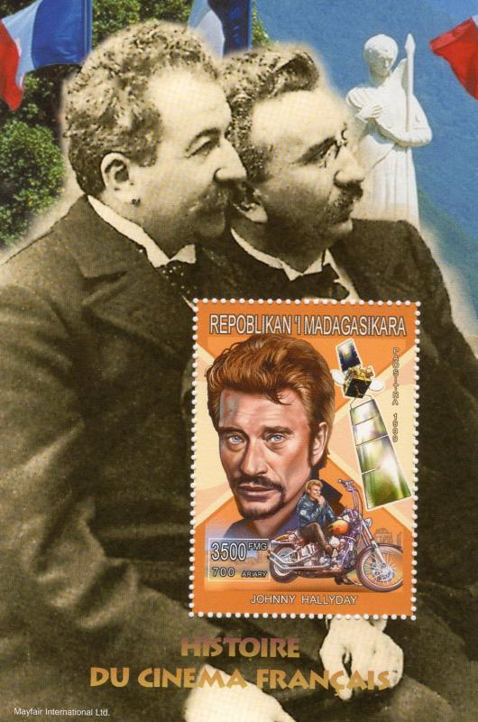 Madagascar 1999 Sc#1415e  Johnny HALLYDAY Harley Davidson S/S Perforated MNH