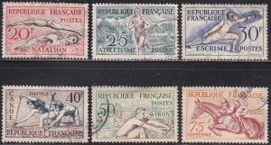 France 700-705 Sports Set 1953