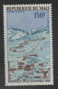 Mali Scott C54 MH* Grenoble Bobsled route airmail stamp