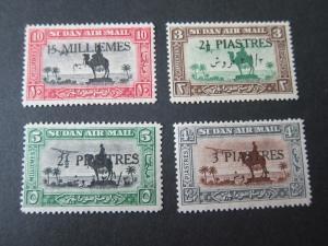 Sudan 1935 Sc C17-C20 NH