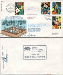RFDC73 Game and Toys 75th Ann of the Royal Naval Air Signed by 2 (D)