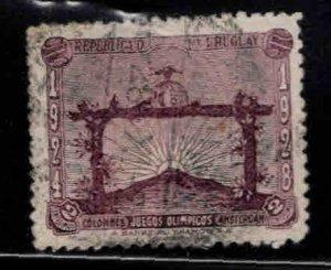 Uruguay Scott 388 Used Soccer Victory  stamp 1928