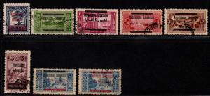 $Lebanon Sc#86//95a used, F-VF, part set, ex. 90 90a 92-3, Cv. $33.45