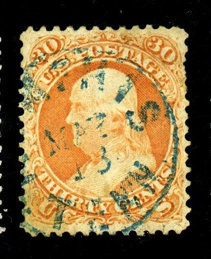 71 Used F-VF BLue Cancel Cat$215