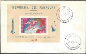 Paraguay #C476 Souvenir Sheet First Day Cover cv $22.50
