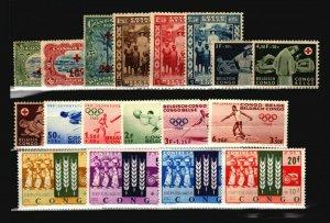 Belgian Conto 18 Mint (Monstly H) Semi Postals / Few Faults - C1691