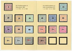 (I.B) Switzerland Railways : State Railways Collection (complete card)