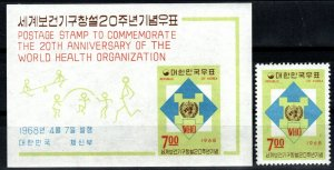 Korea #598, 598a   MNH CV $5.25 (X1451)