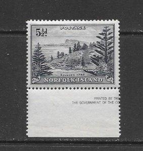 NORFOLK ISLAND #8  MNH