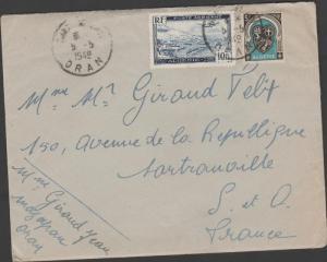 O) 1949 ALGERIA-ALGERIE-AFRICA, LANDSCAPE, PLANE, COAT OF AR