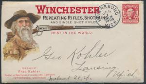 1906 WINCHESTER RIFLES, SHOTGUNS ADV. PETERSBURG, MI CVR W/ ENCLOSURES BP0376