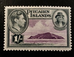 Pitcairn Islands Scott 7 KGVI Definitive One Schilling-Mint NH