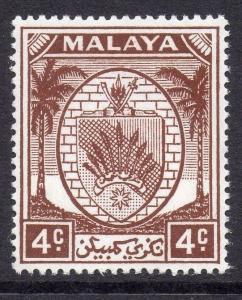 Malaya N.Sembilan 1949 Arms Issue Fine Fine Hinged 4c.