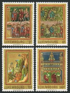 Luxembourg 495-498 bl./4,MNH.Mi 820-823. Miniatures painted at Echternach,1971