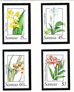 Samoa 751-54 MNH 1989 Orchids