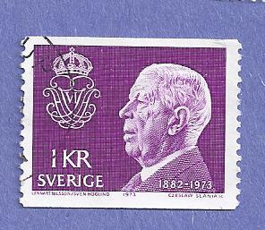 Sweden Scott #1022 King Gustaf VI Adolf, CV $.20, Used