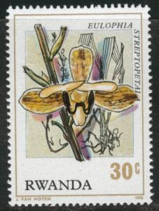 RWANDA Scott 780 MNH** 1976 Orchid stamp