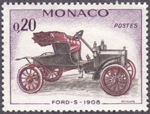 Monaco # 492 hinged ~ 20¢ Automobile