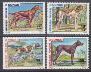 Congo 308-11 MNH 1974 Full Dog Set Very Fine