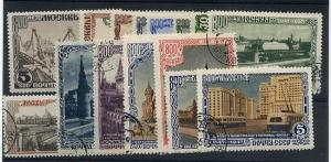 Russia - Fndg of Moscow - 1947 - Scott #1132-1146 Used F-VF 2018 Cat. $43.70