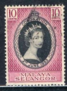 Malaya Selangor; 1953: Sc. # 101; O/Used Cpl. Set
