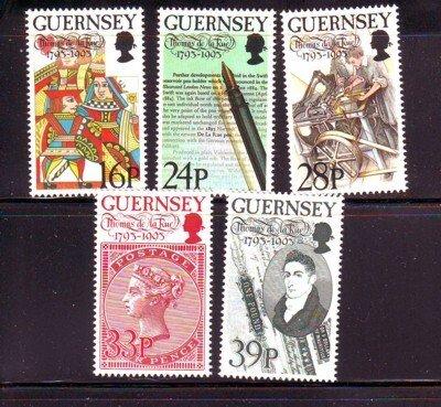 Guernsey Sc 520-4 1993 Thomas de la Rue stamps mint NH