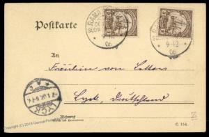 Germany SW Africa 1906 RAMANSDRIFT DSWA Private MAP Card Expertized Cover 77803