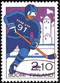1991 Finland Scott 846 World Hockey Championships MNH