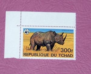 Chad - 372, MNH - Rhino - Scott CV $11.50