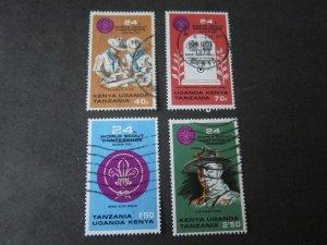Kenya Uganda Tanganyika 1973 Sc 263-6 set FU