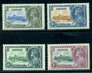 Gibraltar #100-103  Mint  VF VLH   Scott $28.90