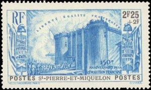 St. Pierre & Miquelon #B4-B8, Complete Set(5), 1939, Hinged