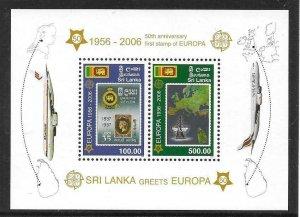 2006    SRI LANKA  -  SG.  MS 1770  -  EUROPA STAMPS ANNIVERSARY   -  MNH