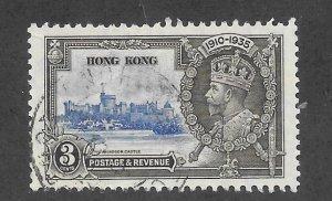 Hong Kong Scott 147 VF Used 3c Silver Jubilee 2018 CV $3.00