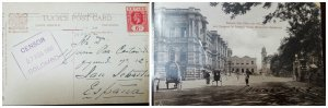 O) 1916 CEYLON. KING GEORGE V 6c, POST OFFICE AND ENTRANCE TO QUEEN'S HOUSE POST