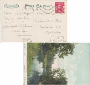United States 1902 Definitives 2c Washington Shield 1907 Leominster, Mass. PP...