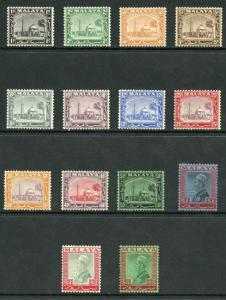 Selangor 1935 values to 5 dollars M/Mint