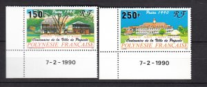J25988  jlstamps 1990 french polynesia set mnh #538-9 buildings