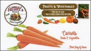 20-160, 2020, SC 5486, Fruits & Vegetables, FDC, Digital Color Postmark,