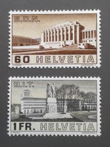Switzerland 240-241 F-VF MNH. Scott $ 23.00
