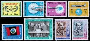 Afghanistan Scott 714 // 722 (1965) Mint NH/LH VF C