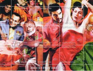 Kyrgyzstan 1999 Fidel Castro/Che Guevara/Ava Gardner 20 Century Dreams Shlt(9)